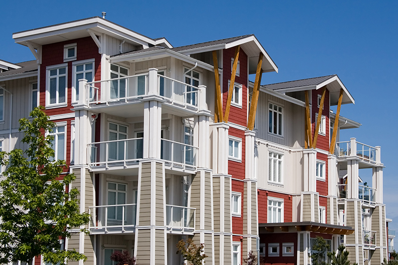A large complex of condominiums - home inspection services